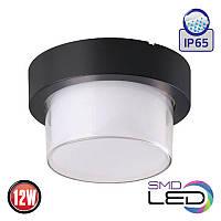 LED Светильник настенный HOROZ ELECTRIC SUGA-12/RO 12W 4200K 1000Lm ІР65 черный