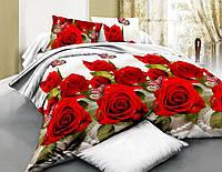 Комплект постельного белья Тиротекс Роза 3D Евро Макси