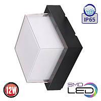 LED Светильник настенный HOROZ ELECTRIC SUGA-12/SO 12W 4200K 900Lm ІР65 черный