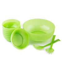 Набор салатников Sagad 22см 12 см Зеленый SA. 25 GREEN, КОД: 1705551