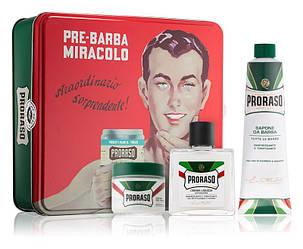 Набор подарочный для бритья с 3-х предметов Proraso vintage selection primadopo