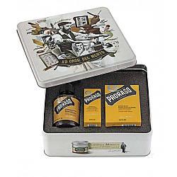 Набор подарочный для ухода за бородой из 3-х предметов Proraso beard kit Wood and Spice