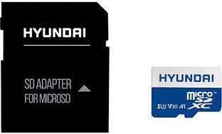 Карта памяти Hyundai microSDXC 512GB Class 10 UHS-I U3 V30 A1 + SD-адаптер (SDC512GU3)