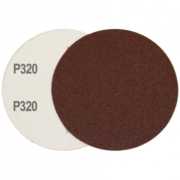 Круг шлифовальный на липучке Velcro Polystar Abrasive 125 мм, P320 комплект 10шт