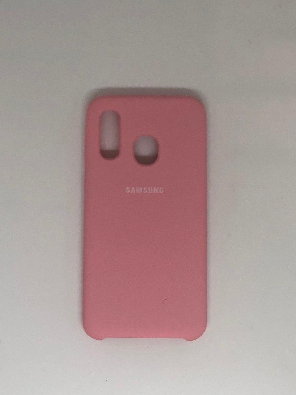 "Чехол на Samsung A40 №12 ""Нежно-розовый"""