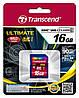 Карта памяти Transcend 16GB SDHC C10 UHS-I R90MB/s, TS16GSDHC10U1