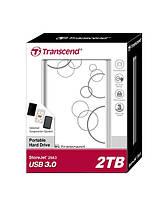 НЖМД Transcend StoreJet 2.5 USB 3.0 2TB серия A белый, TS2TSJ25A3W