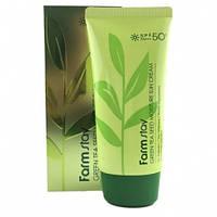 Увлажняющий солнцезащитный крем с семенами зеленого чая FARMSTAY Green Tea Seed Moisture Sun Cream SPF50