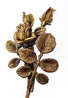 Бронзова квітка на  пам'ятник L3732/22/п, фото 1