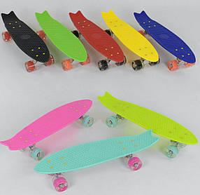 Скейт Пенни борд, 8 Best Board, свет, доска 58 см, колёса PU d 6 см, 8 цветов, цена за 1 шт SKL11-250273