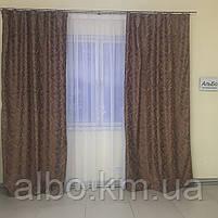 Готовий комплект штор в спальню зал вітальню, штори блекаут на вікна в кімнату дитячу хол зал, штори в кімнату квартиру кухню, фото 6