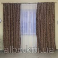 Готовий комплект штор в спальню зал вітальню, штори блекаут на вікна в кімнату дитячу хол зал, штори в кімнату квартиру кухню, фото 5