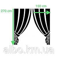 Светоотражающие шторы из льна Блэкаут ALBO 150x270 cm (2 шт) Зеленые (SH-M17-4), фото 2