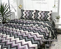 Комплект постельного белья Тиротекс Нюдовый зигзаг 2-х спальный макси