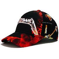 "Бейсболка AMG Metallica ""Fire"" (Ткань) L 0345"