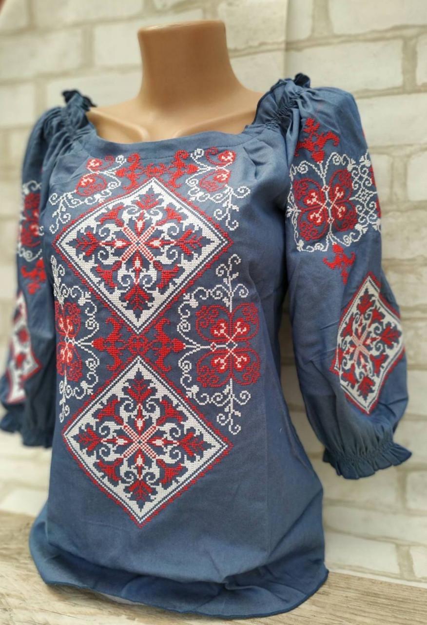 Вишиванка жіноча, в національному стилі, рукав 3/4,  42-54 р-ри450/550 грн (цена за 1 шт+100гр)