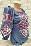 Вишиванка жіноча, в національному стилі, рукав 3/4,  42-54 р-ри450/550 грн (цена за 1 шт+100гр), фото 6