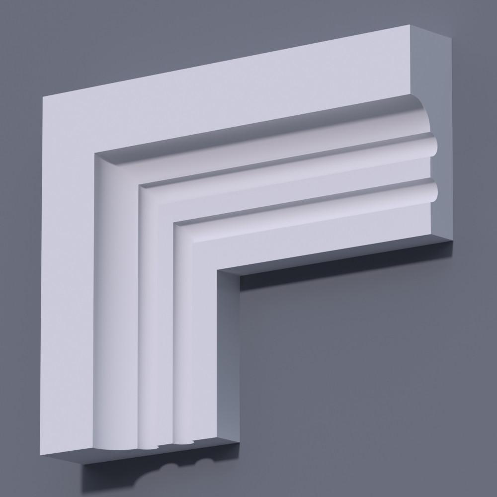 Фасадный молдинг (наличник) Фм-26 (h 120)