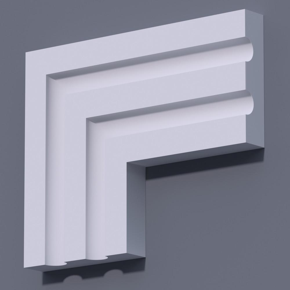 Фасадный молдинг (наличник) Фм-27 (h 135)