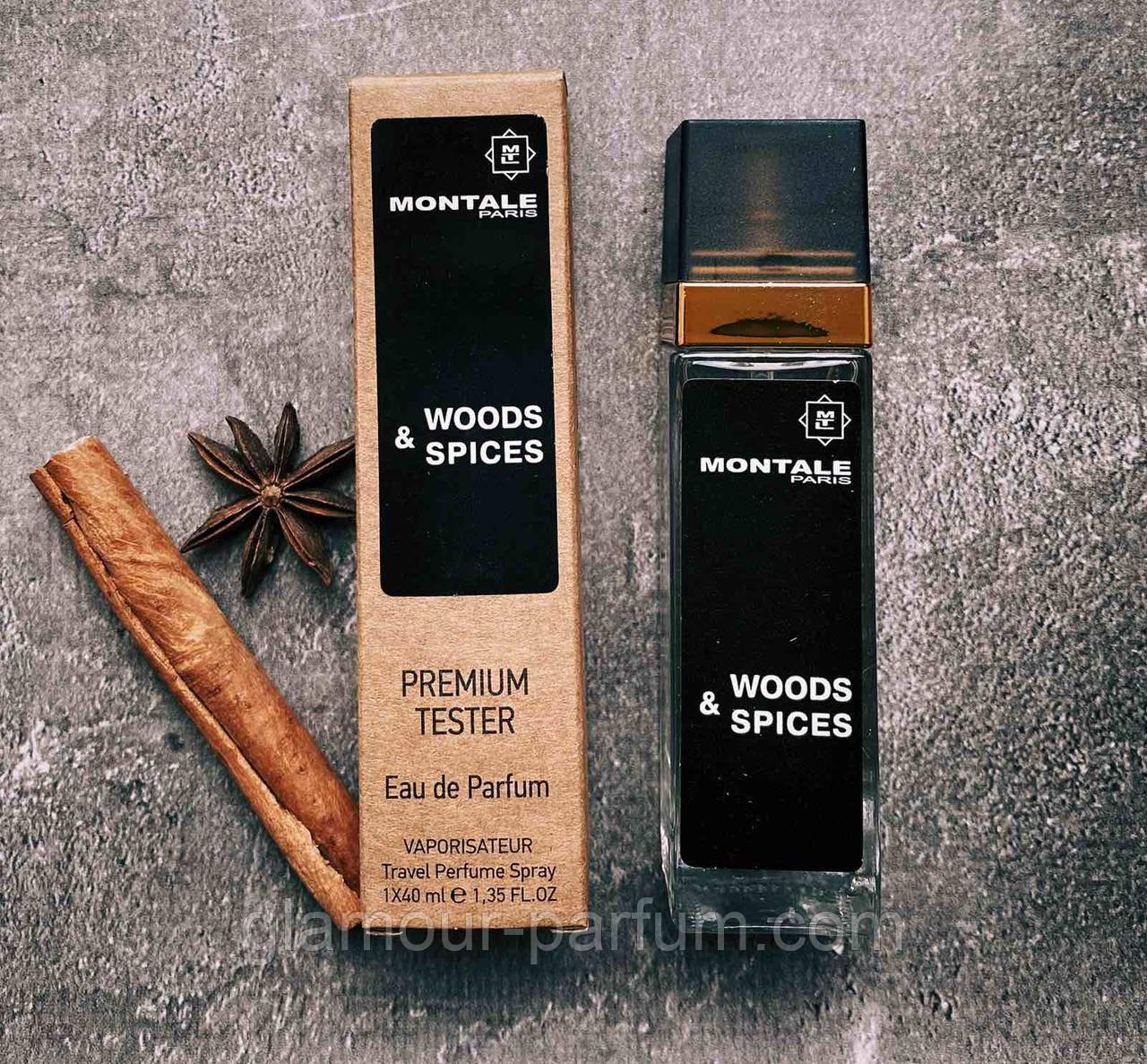 TESTER мини-парфюм Montale Wood & Spices (Монталь Вуд Энд Спайсес) 40мл реплика ОПТ