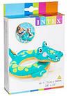 Детский надувной круг для плавания Intex 58221-2 | Плавательный круг для детей Крокодил, фото 5
