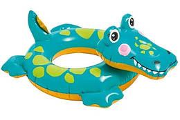 Детский надувной круг для плавания Intex 58221-2   Плавательный круг для детей Крокодил