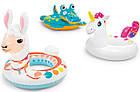 Детский надувной круг для плавания Intex 58221-2 | Плавательный круг для детей Крокодил, фото 6