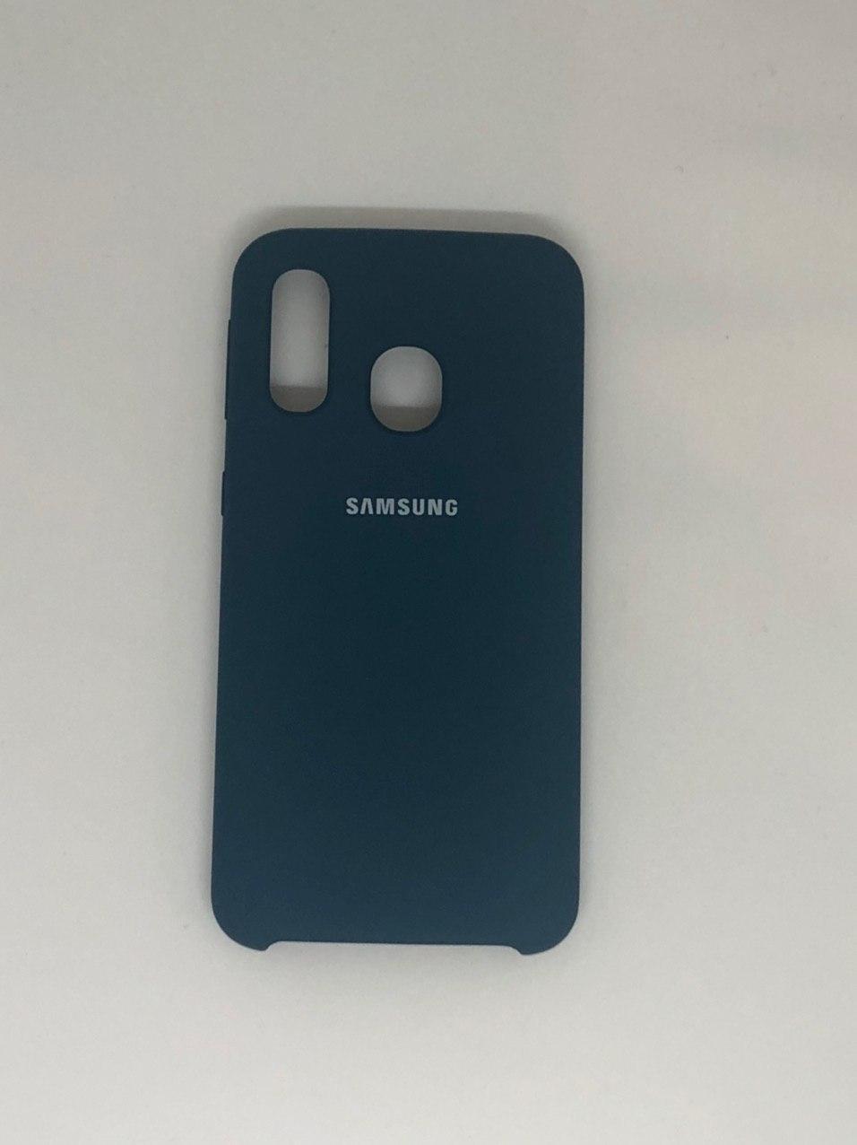 "Чехол на Samsung A40 №35 ""Космический синий"""