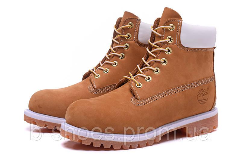 Ботинки мужские Timberland 6-inch Waterproof Boots Brown/White