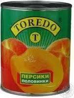 """Персик """" Торедо""""  820 г. конс. половинки"""