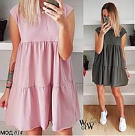 Платье, ткань: Супер софт,  р-р  42-44, 44-46, 46-48,  цвет: ( розовый, хаки, черный )