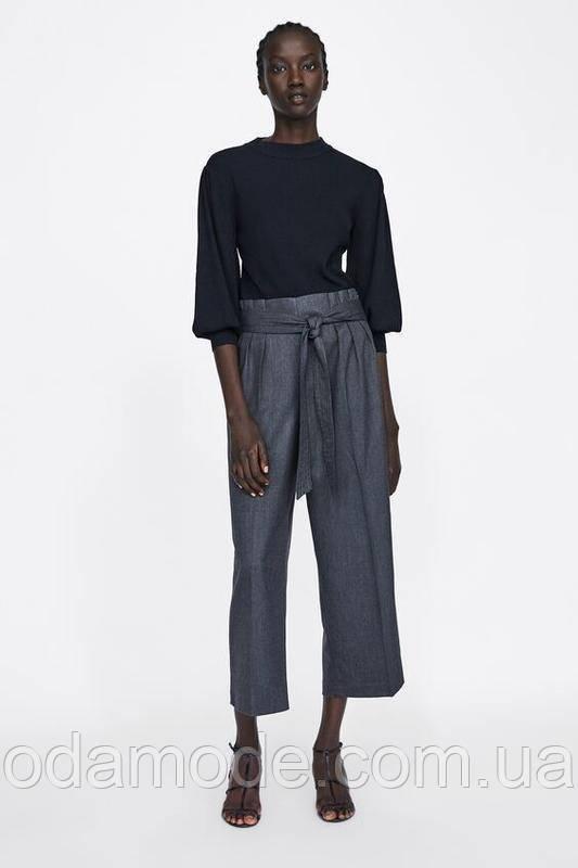 Женские брюки ZARA  серые
