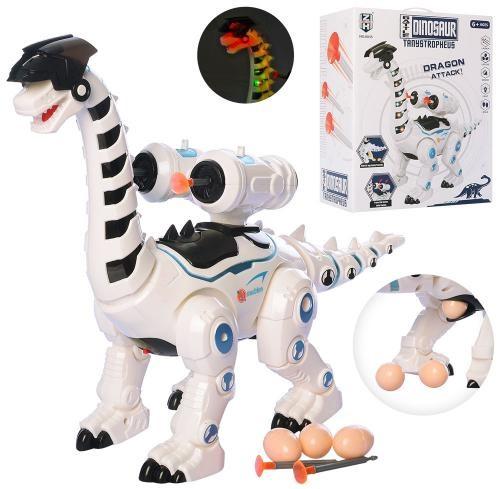 Динозавр інтерактивний, несе яйця, стріляє, зі світлом, 0835