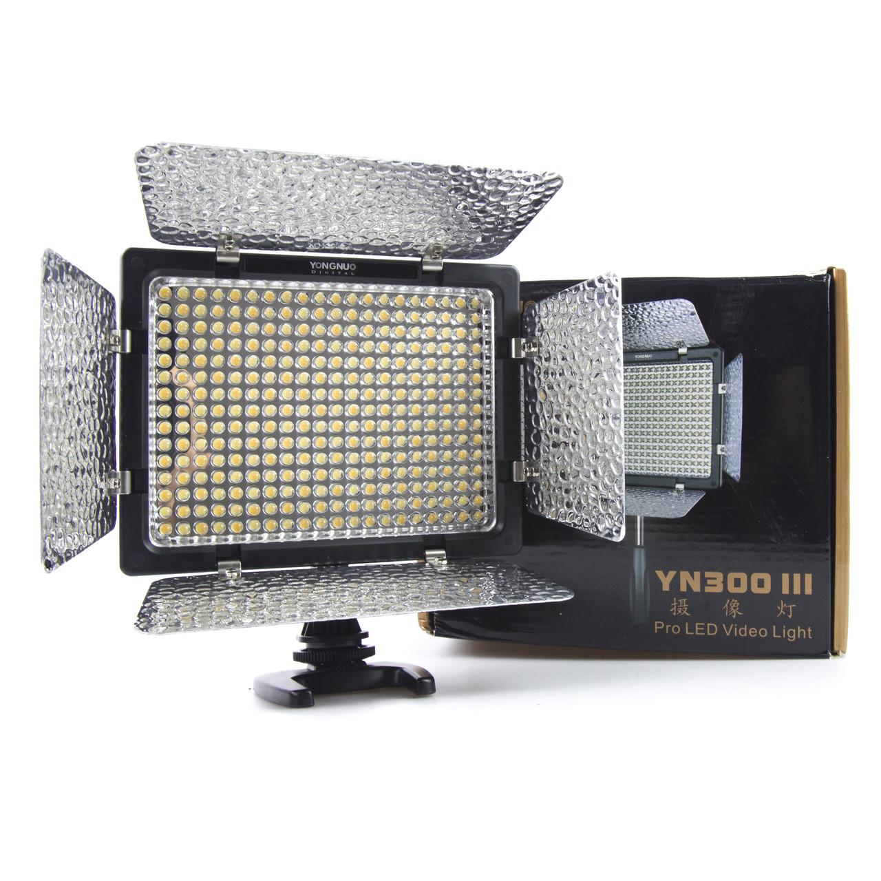 Накамерне світло Video Light Yongnuo YN-300 III ( З мережним адаптером! )