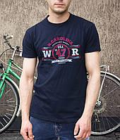 Стильная хлопковая мужская футболка с надписью WRANGLER