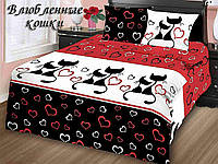 Комплект постельного белья Тиротекс Влюбленные кошки 2-х спальный