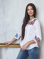Біла жіноча вишиванка (в розмірі S - 3XL)