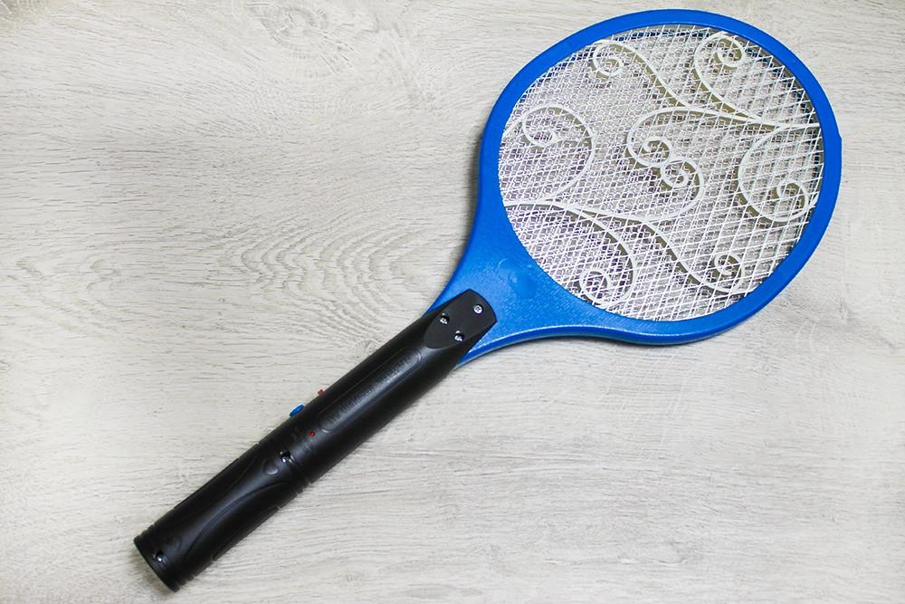 Электрическая мухобойка Синяя, мухобойка на аккумуляторе от мух, комаров   Електромухобійка (NS)