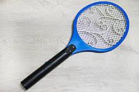 Электрическая мухобойка Синяя, мухобойка на аккумуляторе от мух, комаров   Електромухобійка (NS), фото 1