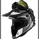 Шлем кроссовый с очками CKX HELM TITAN ORI DL SIDEHILL WH, фото 4