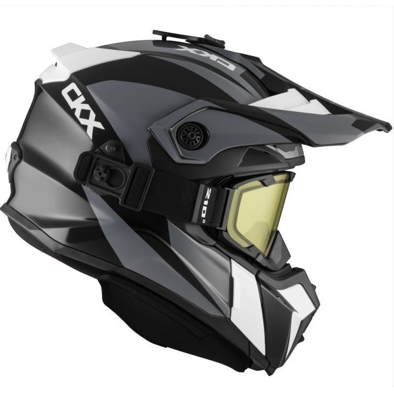 Шлем кроссовый с очками CKX HELM TITAN ORI DL SIDEHILL WH
