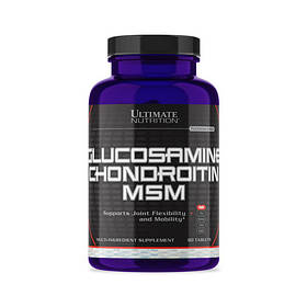 Комплексный препарат для суставов и звязок Ultimate Nutrition Gl-Ch-MSM 90 tabs глюкозамин хондроитин мсм