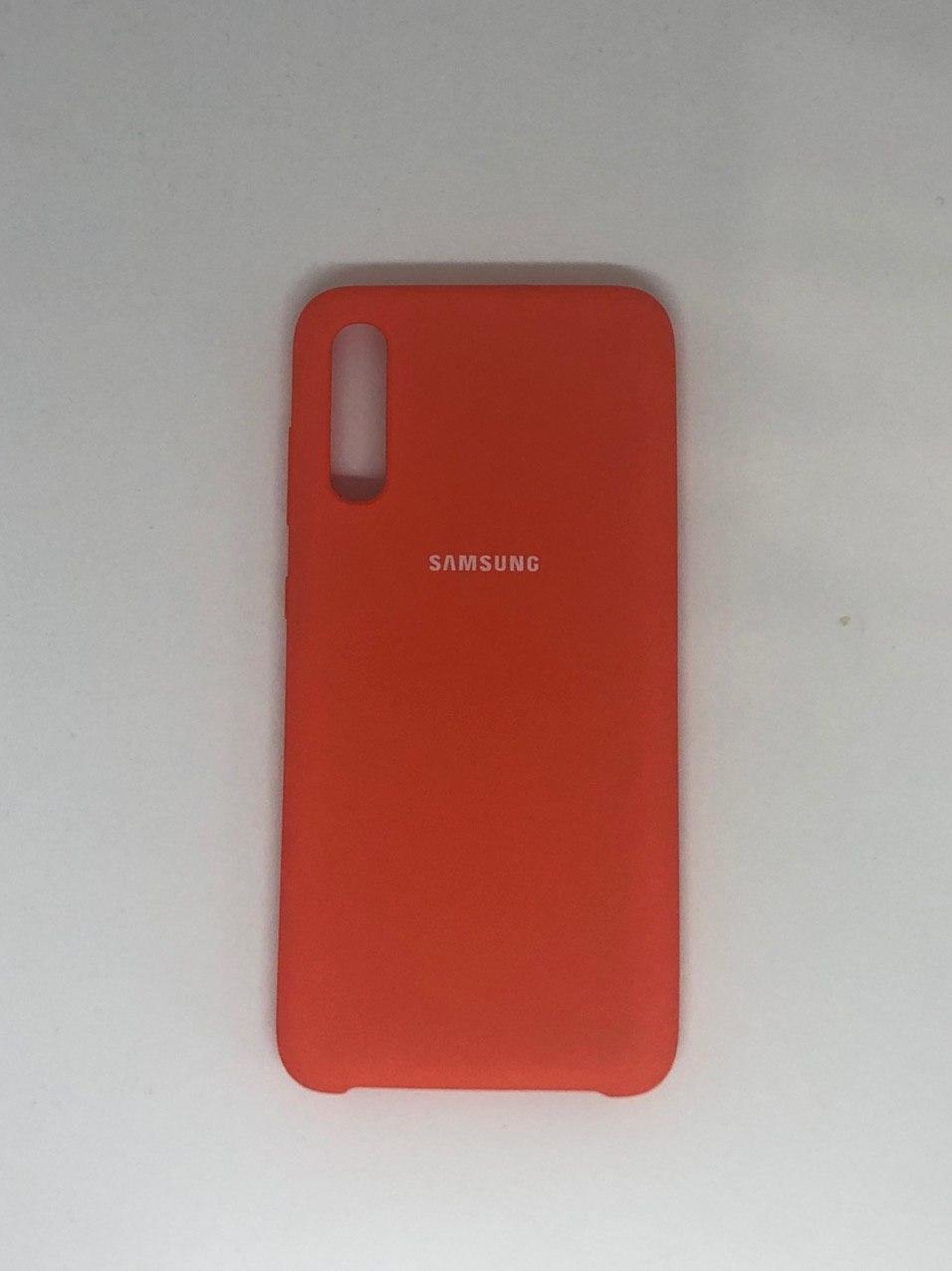 """Чехол Samsung A 70 №13 """"Оранжевое настроение"""" Silicon Case"""
