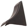 Бортик столешницы, 34×24×3000 мм, F3M:  Заглушка  Чёрная (55)