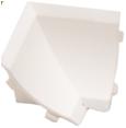 Бортик столешницы, 34×24×3000 мм, F3M:  Угол внутренний Белый