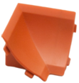 Бортик столешницы, 34×24×3000 мм, F3M:  Угол внутренний Вишня