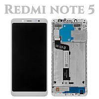 Модуль для Xiaomi Redmi Note 5, белый, Дисплей с сенсорным экраном, с рамкой, Original