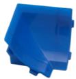 Бортик столешницы, 34×24×3000 мм, F3M:  Угол внутренний Синий