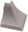 Бортик столешницы, 34×24×3000 мм, F3M:  Угол наружный,  Металлик