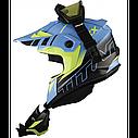 Шлем кроссовый с очками CKX HELM TITAN ORI DL AVALANCHE GR/BL, фото 4
